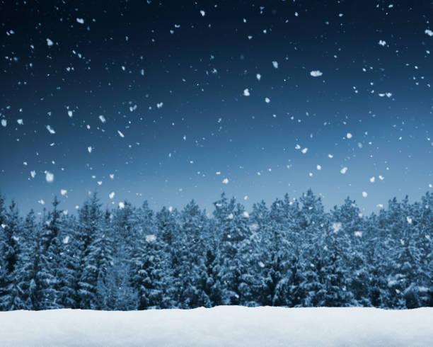 冬の背景 - 雪景色 ストックフォトと画像