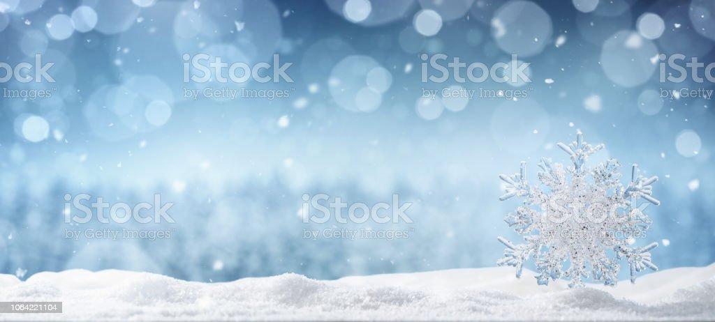 Winter Hintergrund mit Textfreiraum – Foto