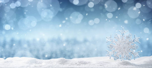winter background with copy space - snowflake background stock pictures, royalty-free photos & images