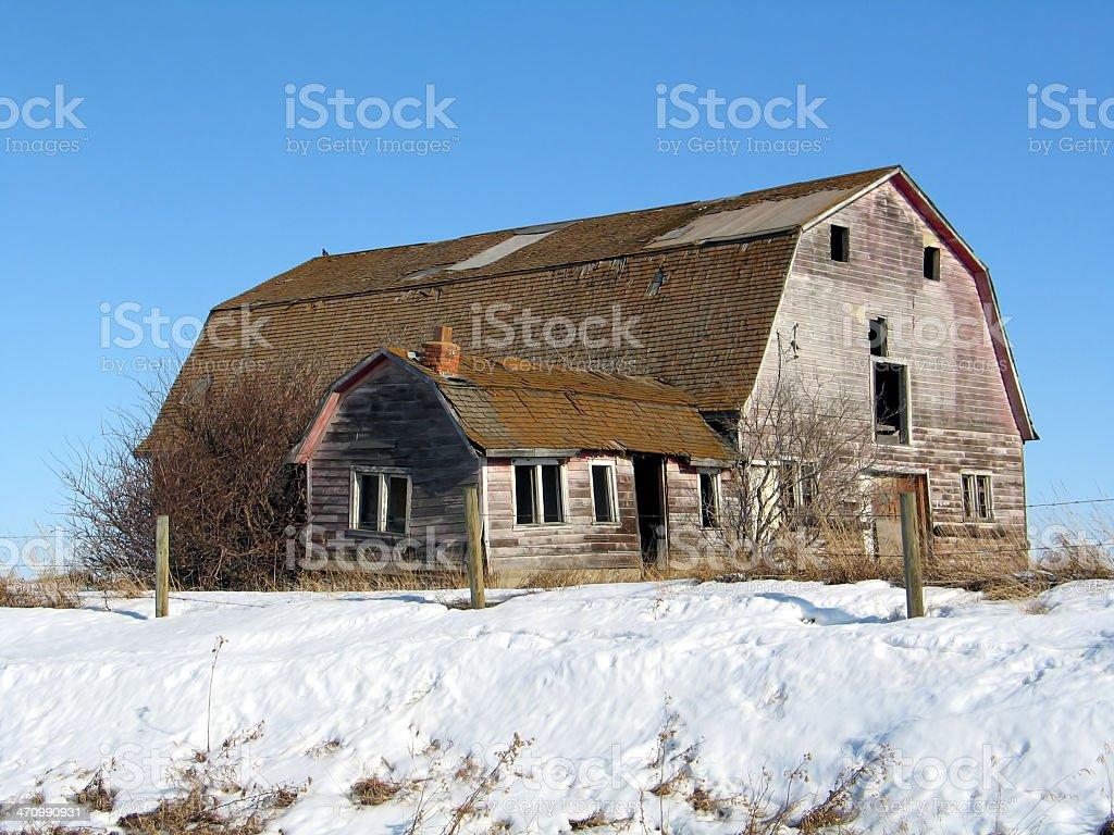 Winter Barn 2 royalty-free stock photo