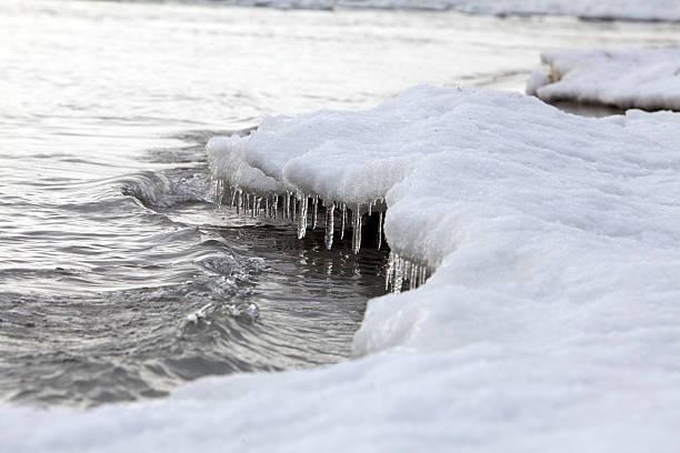 Winter Beach Scenics stock photo