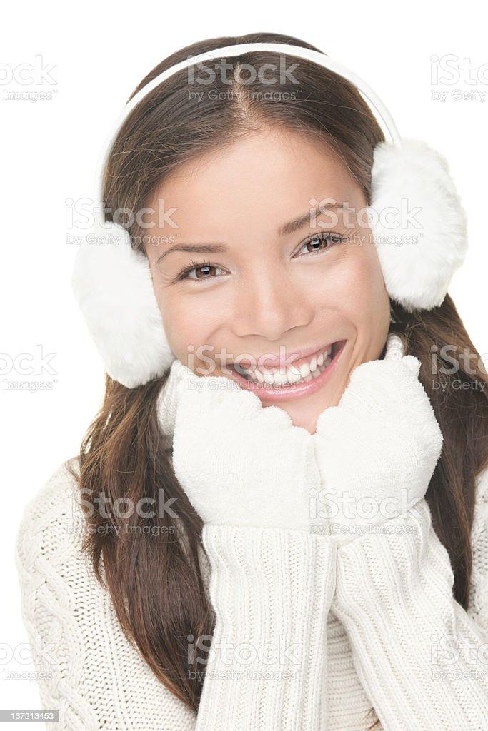 Winter beautiful woman portrait royalty-free stock photo