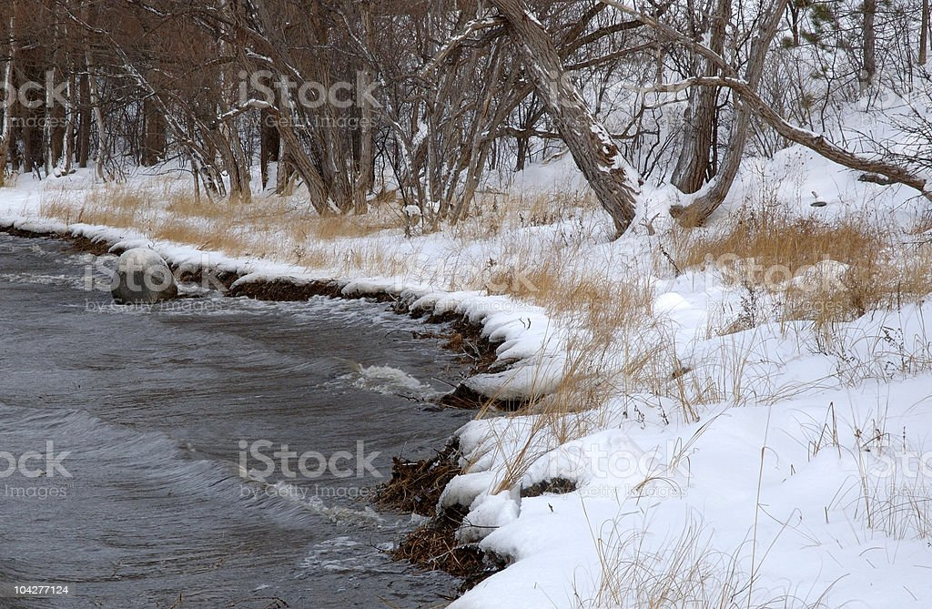 Winter before the freeze. stock photo