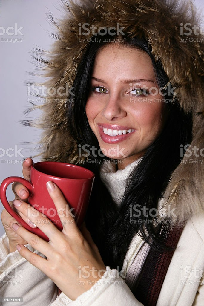 Winter beverage royalty-free stock photo