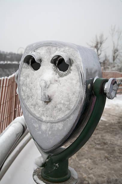 Winter Binocular stock photo