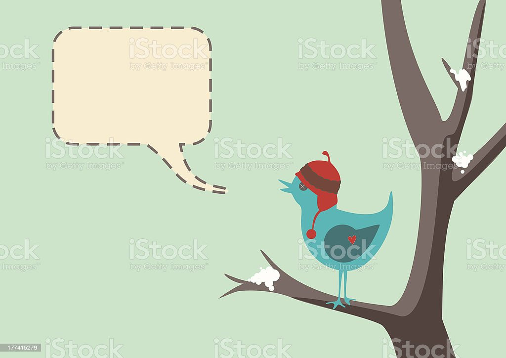 Winter Bird stock photo