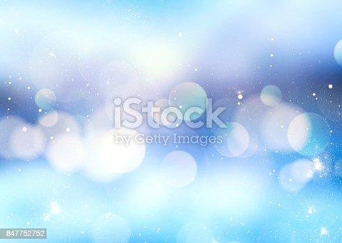 istock Winter blue blur background. 847752752