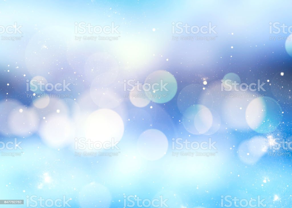 Winter blue blur background. stock photo
