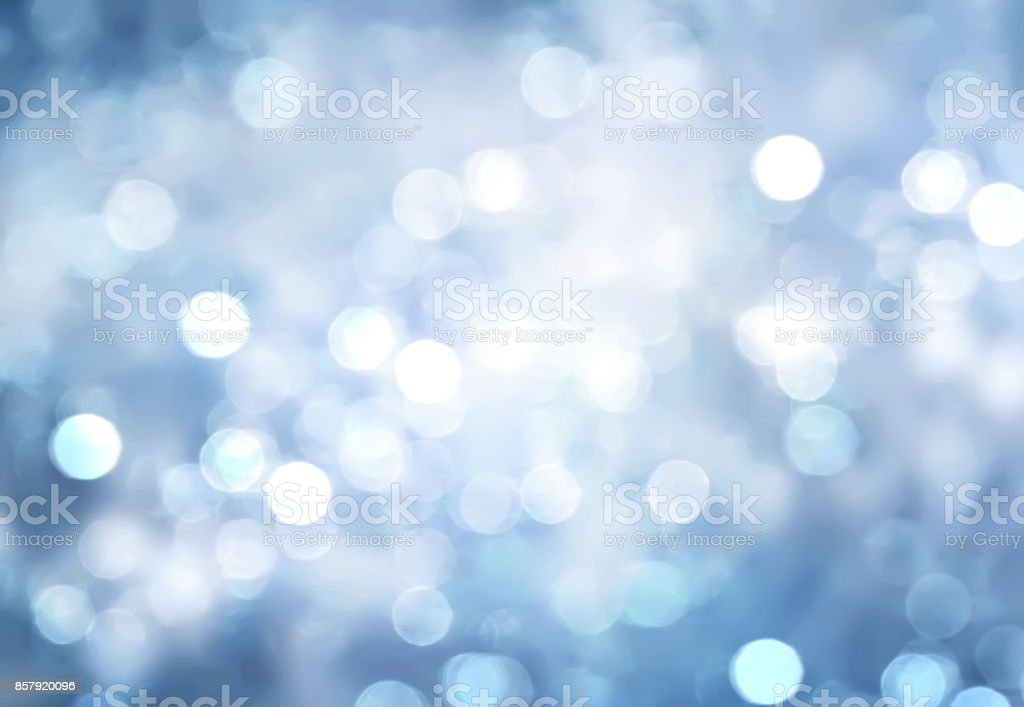 Winter blue blurred background. stock photo
