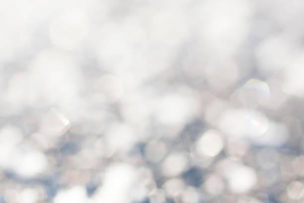 Winter blur background stock photo