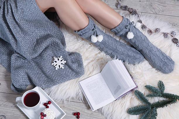 winter breakfast stock photo