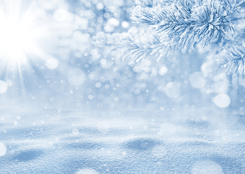 Winter bright background.