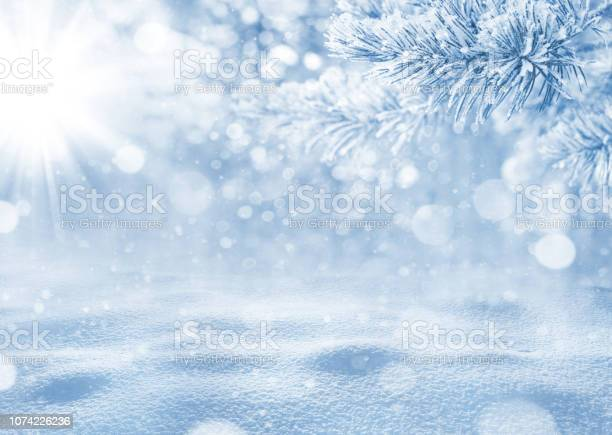 Photo of Winter bright background.
