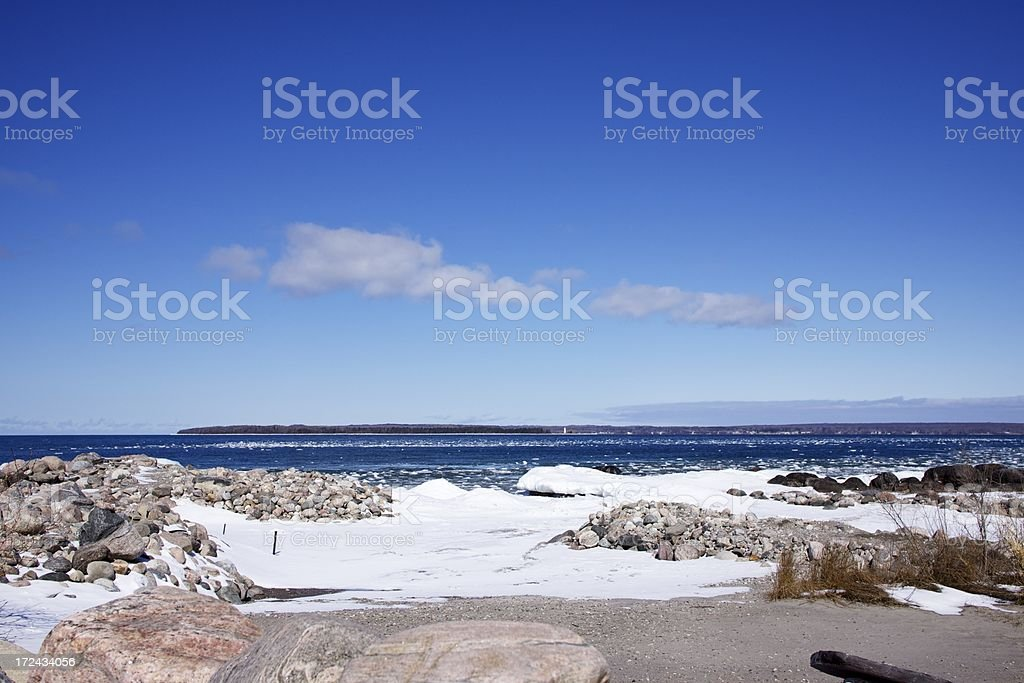 Winter by the water royalty-free stock photo
