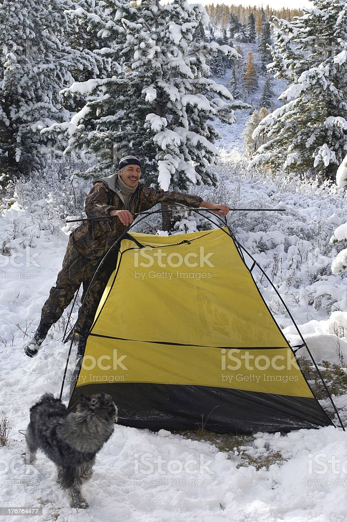 winter camp royalty-free stock photo
