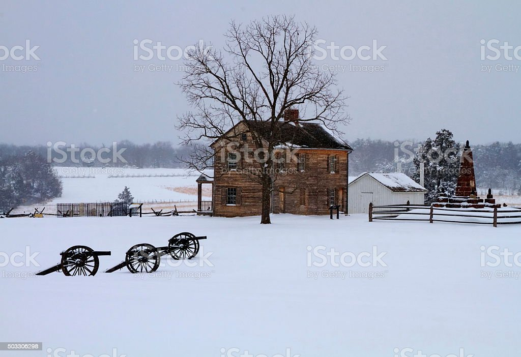 Winter Campaign stock photo