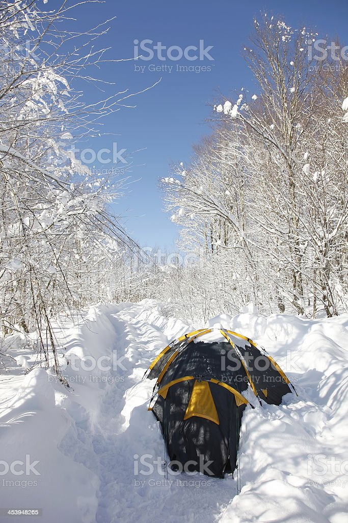 Winter  Camper royalty-free stock photo