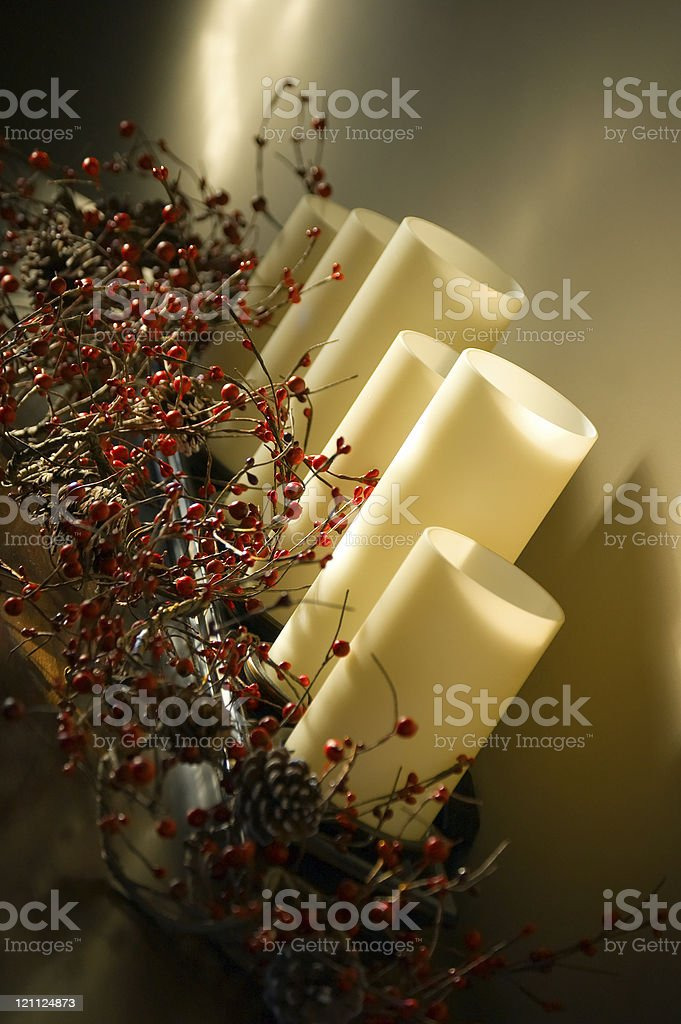 Winter Candles royalty-free stock photo