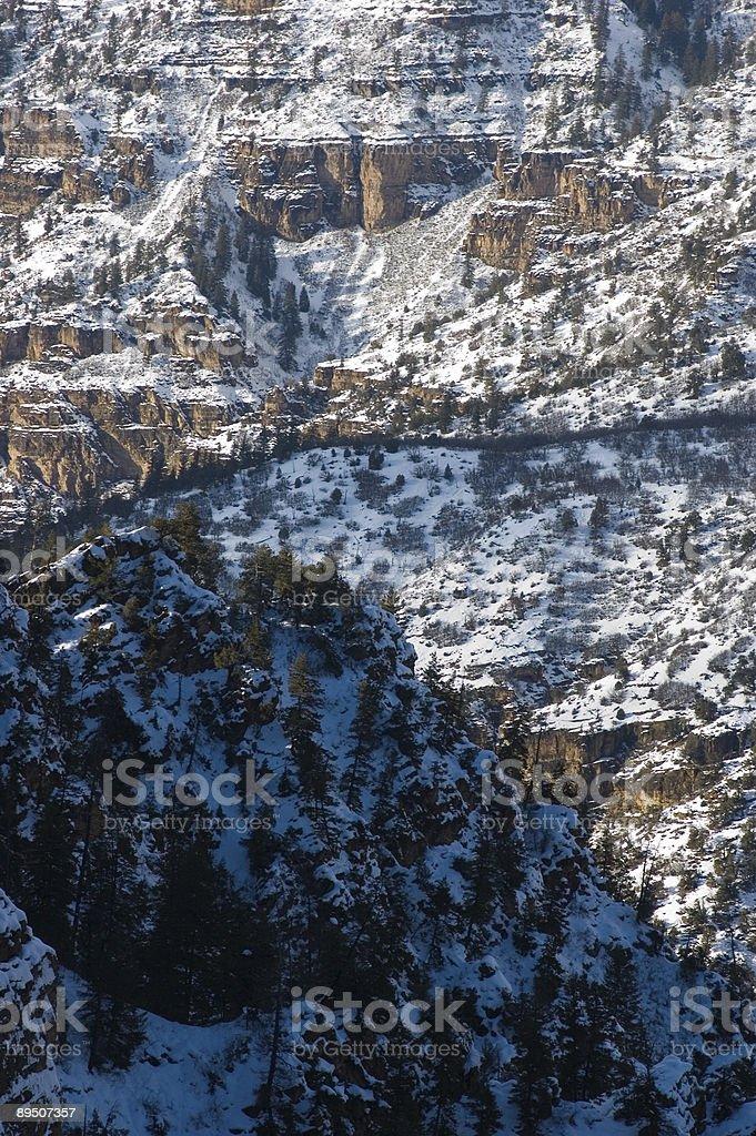 Vue sur le Canyon d'hiver 2 photo libre de droits