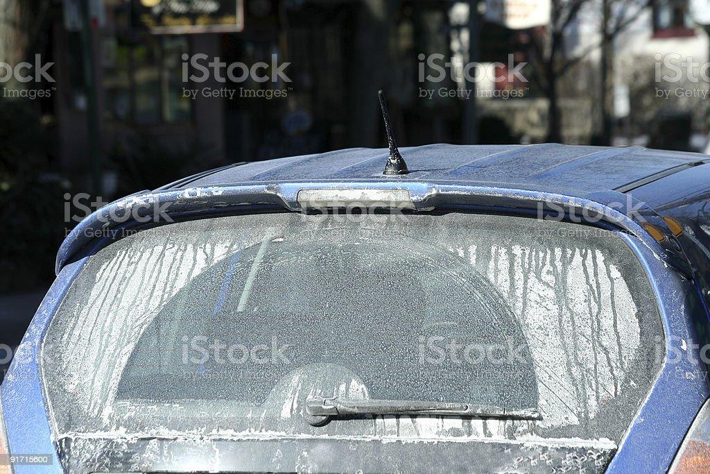 Winter car stock photo