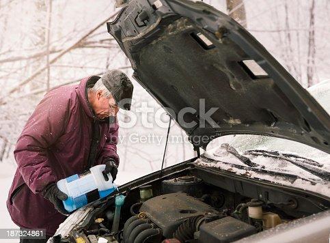 istock Winter car upkeeping: Antifreeze 187324861
