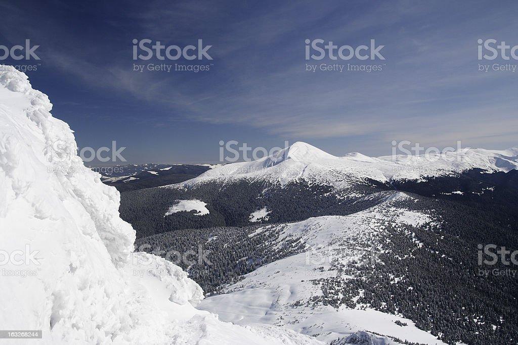 Winter Carpathians royalty-free stock photo