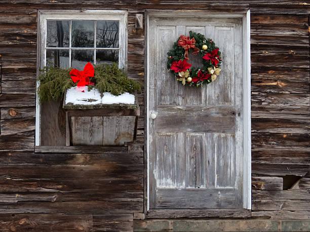 winter-feiern - türbänder stock-fotos und bilder