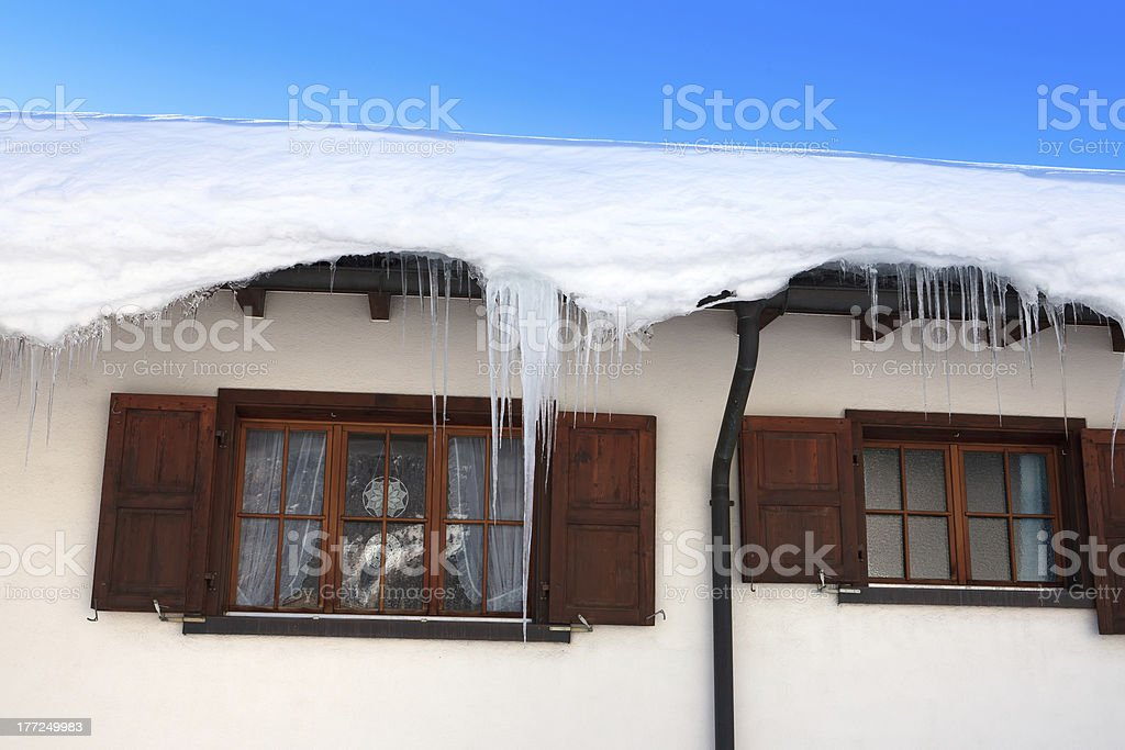 Winter Chalet royalty-free stock photo