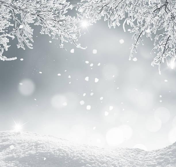 冬クリスマスの背景 - 雪景色 ストックフォトと画像