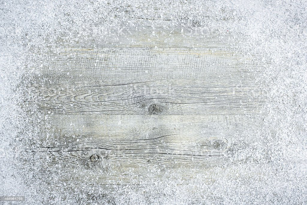 A winter Christmas frost background stock photo