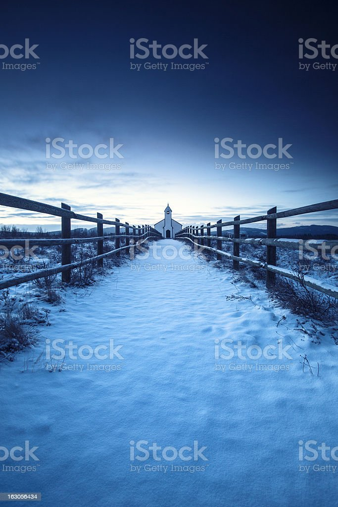 Winter Church royalty-free stock photo