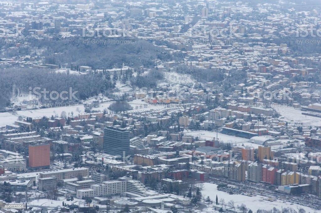 Winter City Scape stock photo