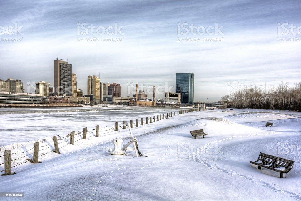 Winter City Skyline stock photo
