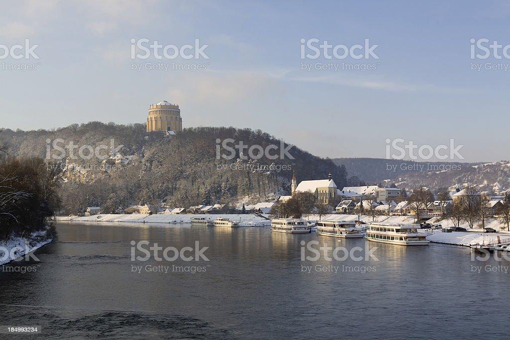 winter cityscape Kelheim royalty-free stock photo