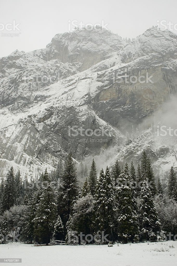 Winter Cliffs royalty-free stock photo