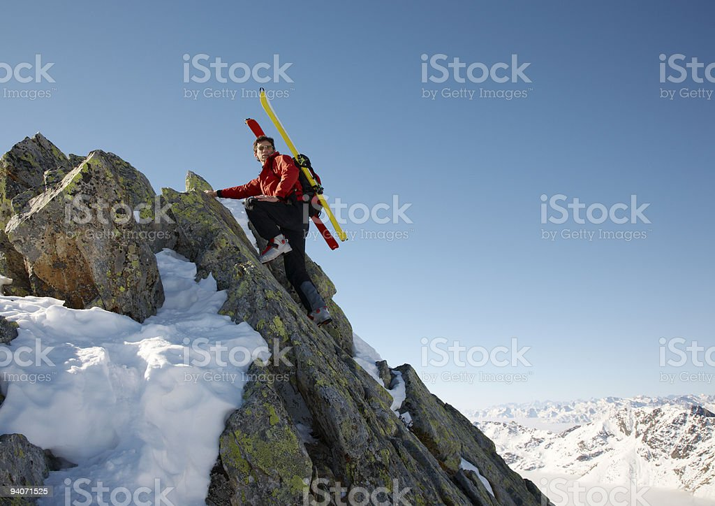Winter climber royalty-free stock photo