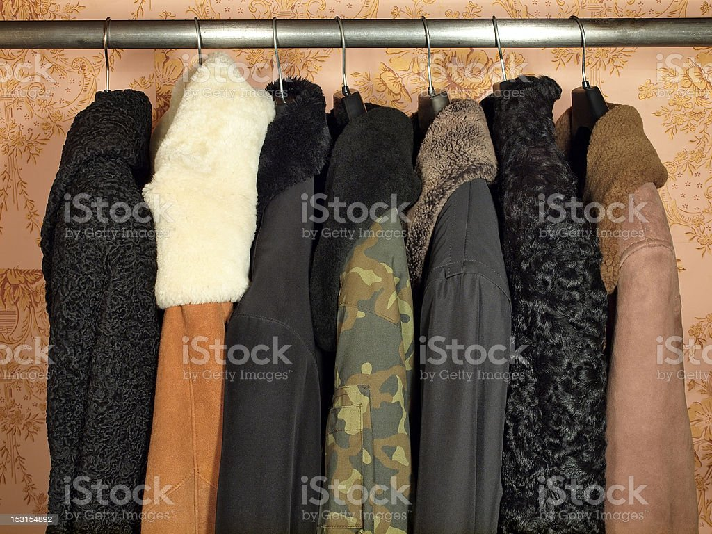 Winter clothes. stock photo