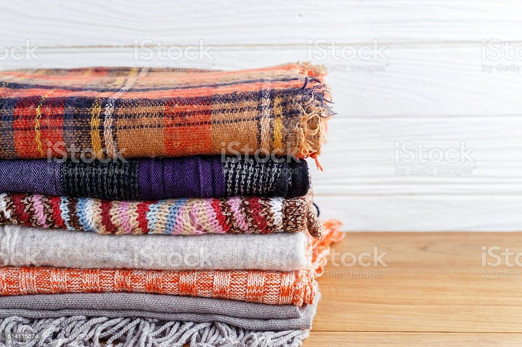 Winter clothing background stock photo