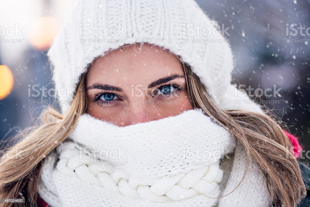 Winter clothing stock photo