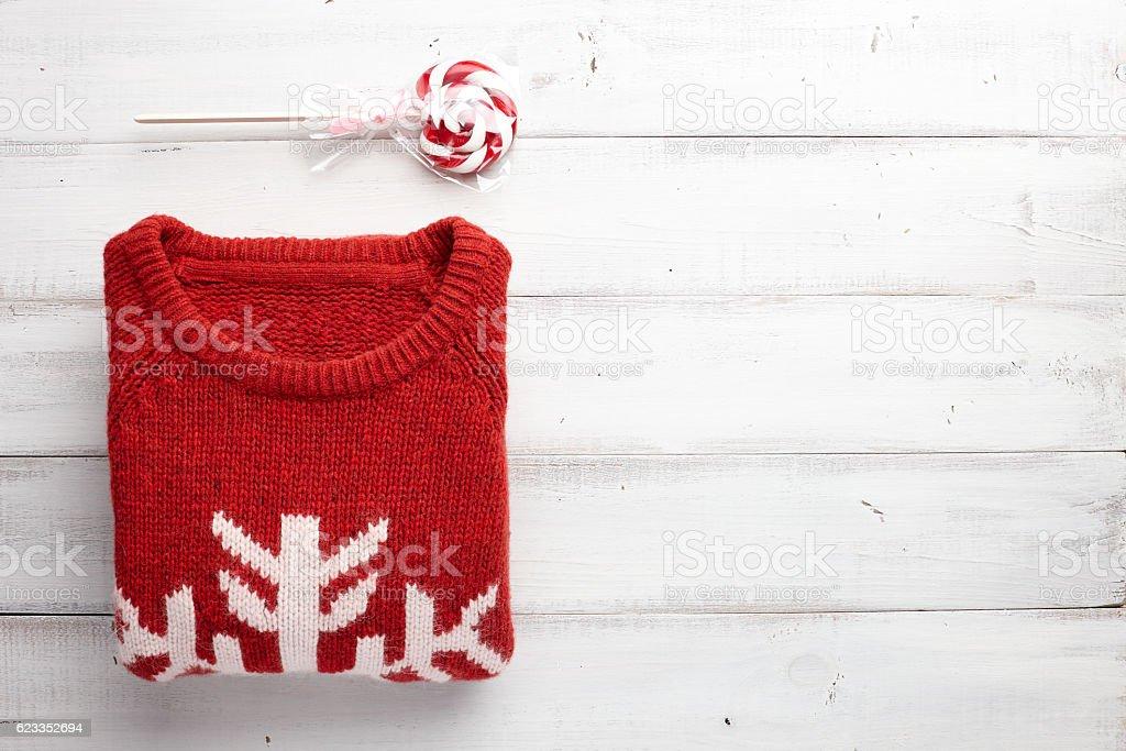 Winter clothing style background stock photo