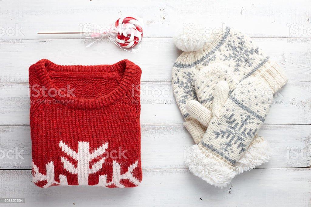 Winter clothing style stock photo