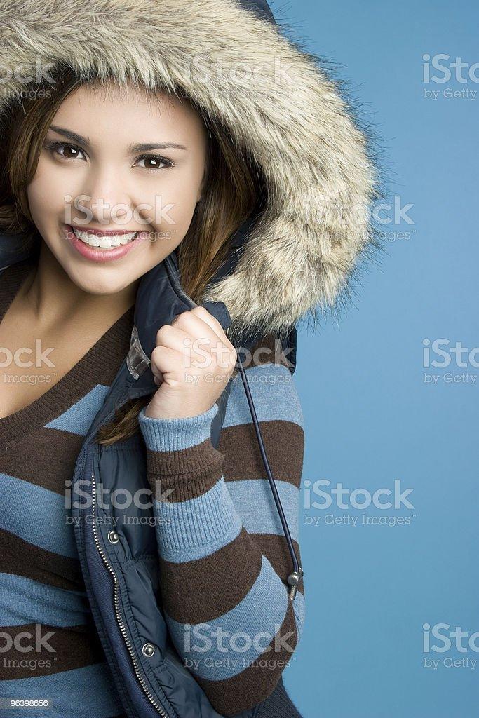Winter Coat Girl - Royalty-free Adult Stock Photo