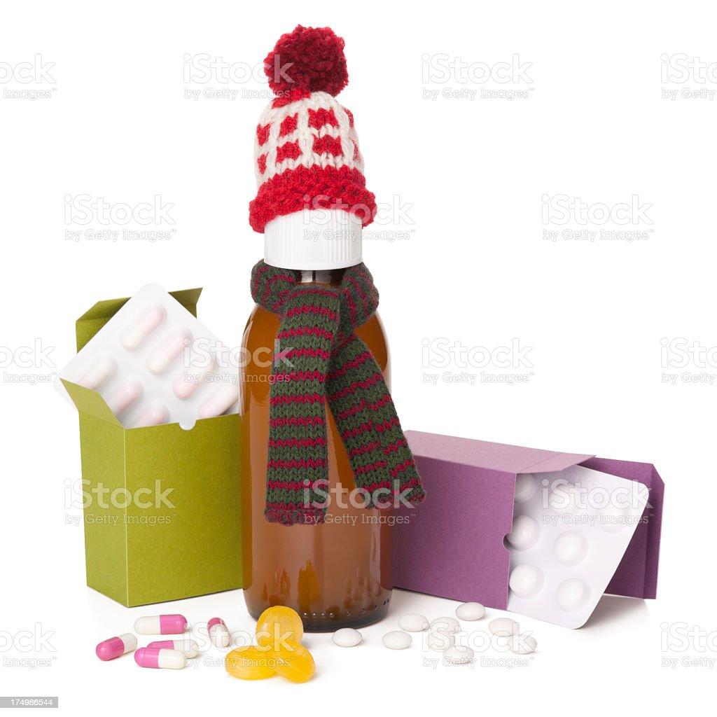 Winter cold and flu remedies royalty-free stock photo