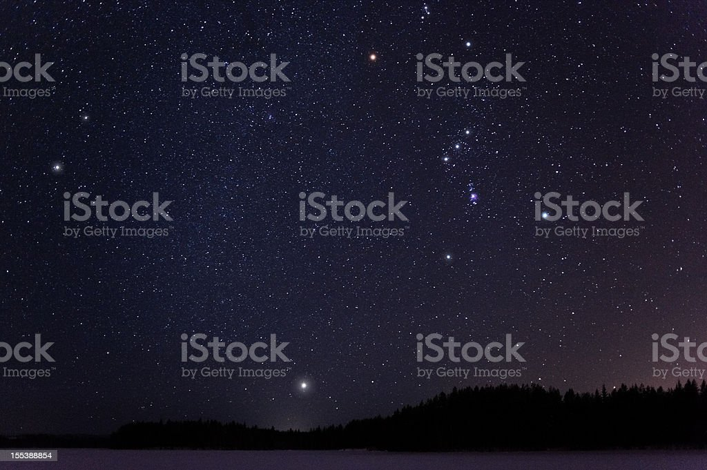 Winter constellations stock photo