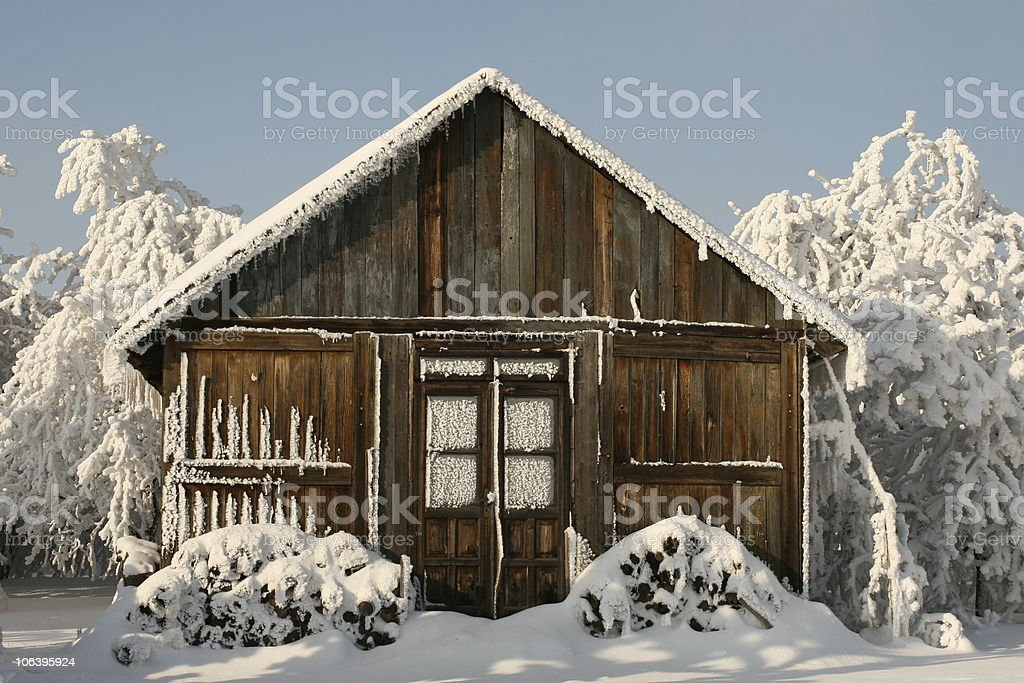 winter cottage royalty-free stock photo