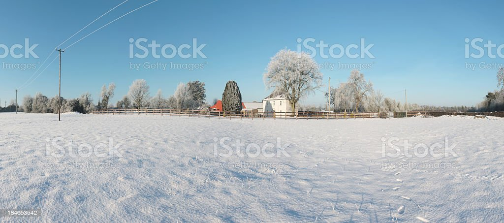 Winter country scene royalty-free stock photo