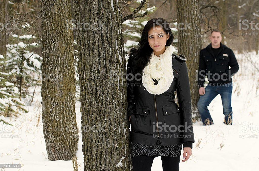Winter Couple royalty-free stock photo