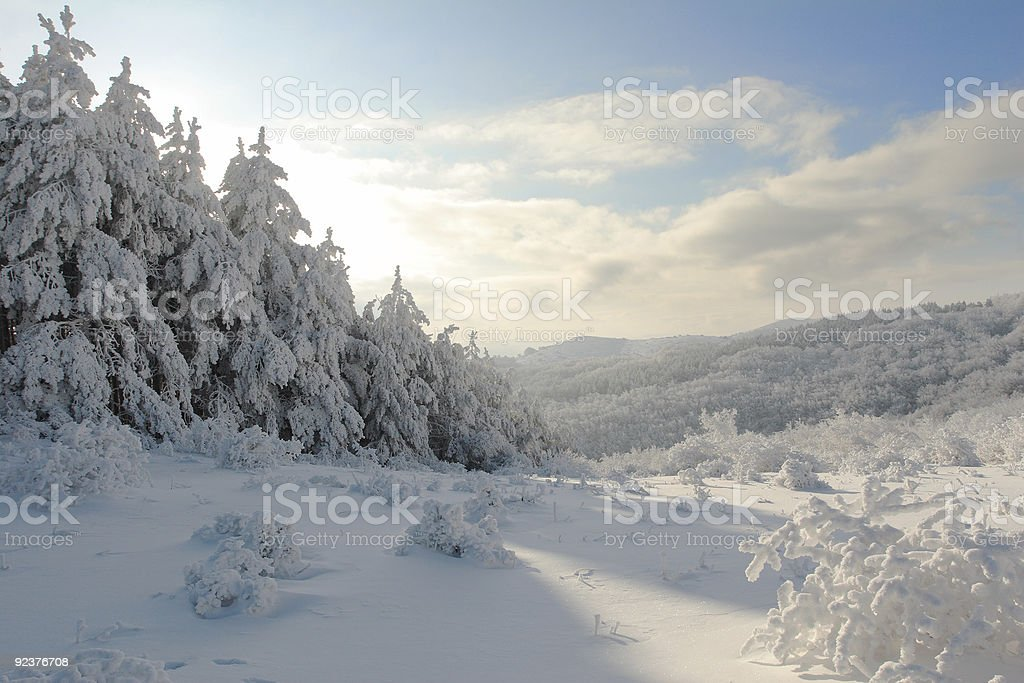 Winter Cristmas landscape from Bulgaria royalty-free stock photo