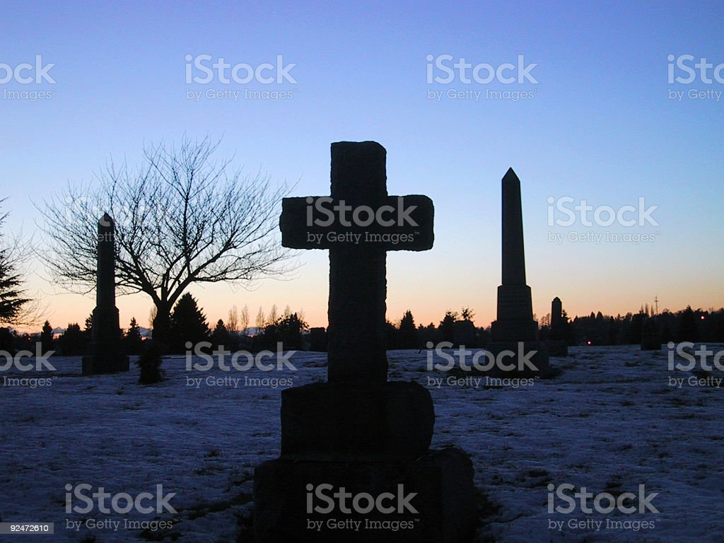 Winter Cross royalty-free stock photo