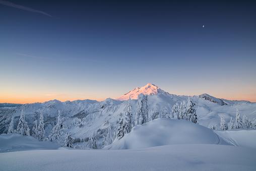 Winter Dawn on Mountain Baker